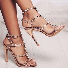 'Oya' Studded Detail Heels