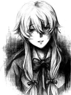 Yandere Manga, Yandere Girl, Animes Yandere, Yuno Gasai Anime, Yuno Mirai Nikki, Mirai Nikki Future Diary, Best Anime Shows, Manga Cute, Blackwork
