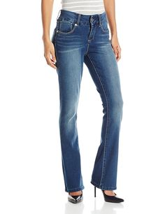 Seven7 Women's Tummy-Less Slim Boot Jean with E Loop Pockets >>> Visit the image link more details.