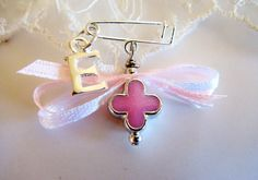 Girls Witness pins Martirika Martyrika Pink Clover by VessCrafts, $16.00