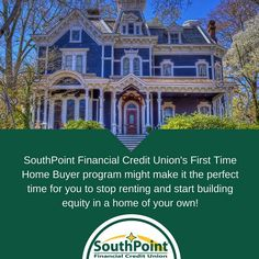 SouthPoint Financial offers 1st and 2nd mortgages, First Time HomeBuyer Loans, along with Home Equity Lines of Credit all at competitive rates and with low closing costs.