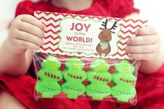 Christmas Treat Bag Tags! Peep trees or santas or reindeers!