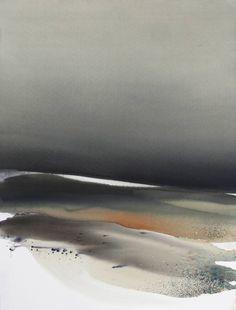 "Saatchi Art Artist Sabrina Garrasi; Painting, ""The past time... / Watercolor Landscape"" #art"