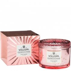 Voluspa Corta Maison Boxed Candle - Vermeil 2015 Collection i  Prosecco Rose