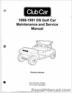 Your investment in a Club Car Repair Manual will pay for itself quickly in just one repair or in extending the life of your batteries, cables and body through preventive and regular maintenance.