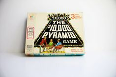 Vintage 1970s Milton Bradley Board Game The 10,000 Pyramid / Bright Colors with…...................................................................Please save this pin... ........................................................... Visit!.. http://www.ebay.com/usr/prestige_online