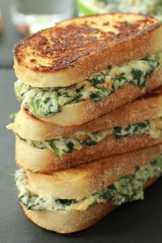 Spinach And Artichoke Melts ~ The best way to get use of some spinach and artichoke dip leftovers is to make another enjoyable dish with them.Something like these spinach and artichoke melts!