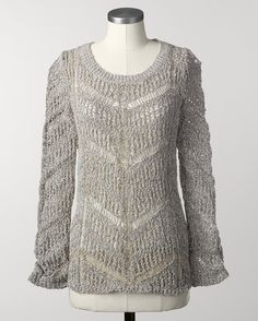Marled dovetail pullover - [K14382]  ...to go with those skinny black jeans or the maxi skirt!