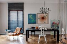 Casinha colorida: Um mix elegante de Mid Century Modern e do estilo contemporâneo