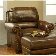 $1,279.00 Cambria Leather Chair and Ottoman Set in Amaretto  From Parker   Get it here: http://astore.amazon.com/ffiilliipp-20/detail/B003XJ8G60/184-8213125-1647059