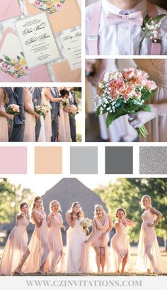 Peach and Blush are a dreamy color combination for a Spring or Summer Wedding! This color palette features blush, peach, How To Dress For A Wedding, Sexy Wedding Dresses, Spring Wedding, Wedding Peach, Diy Wedding, Wedding Ideas, Elegant Wedding, Wedding Unique, Floral Wedding