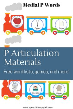 P articulation materials. Free word lists, games, cues, and worksheets! Read more at