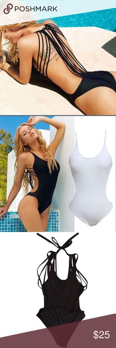 Strappy Bathing Suit Super Sexy Strappy Bathing Suit!!! If you want to stand out or distract from places you feel flawed...this bathing suit is it!! You'll Love wearing this and feel Great about yourself in it!! Swim Bikinis