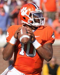 Clemson Tigers quarterback Tajh Boyd (10) - Wake Forest at Clemson by joshuak8, via Flickr