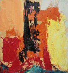 "Abstract impressionist Franz Kline's ""Red, Black and Orange"""
