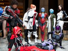 Best Mass Effect cosplay ever If you look towards the left there is a Garus too