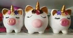 Clay Art Projects, Projects To Try, Party Unicorn, Diy And Crafts, Crafts For Kids, Cute Piggies, Unicorn Crafts, This Little Piggy, Cool Toys