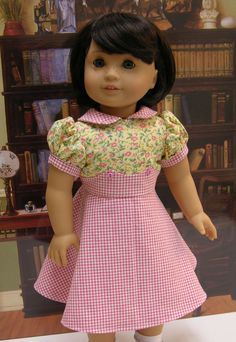 Country Cutie - vintage dress for American Girl doll. $47.00, via Etsy.