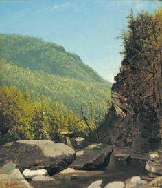 """Near Echo Lake, New Hampshire,"" Sanford Robinson Gifford, oil on canvas, 13 x 11"", private collection."
