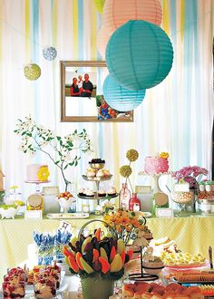 """""""Happy Trails"""" Spring Baby Shower Soirée...thins could also be altered for a Spring or Ester Party"""