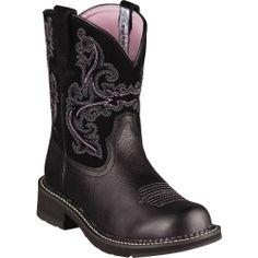 10004729 Ariat Women's Fatbaby II Western Boots - Black