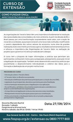 CURSOS DE EXTENSÃO UNIVERSITÁRIA FESP COMPLEMENTANDO SEUS ESTUDOS E OFERECENDO A OPORTUNIDADE DE CRESCIMENTO PESSOAL E PROFISSIONAL. A Fundação Escola de Sociologia e Política de São Paulo em parce...