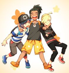 Hau to be happy! (I'm so clever *sarcasm intended) Sun, Hau, and Gladion