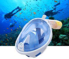 Full Face Diving Mask Snorkel Set Swimming Training Scuba Anti Fog. #snorkel #snorkeling #dive #diving #antifog #deepsea #swimming #snorkelmask #divingmask #sports #scuba #scubadiving