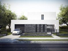 Dom (Energo)Oszczędny Projekt energooszczędnego i ekonomicznego domu jednorodzinnego w Łodzi o powierzchni 150m2. Dom jest posadowiony na płycie fundamentowej i spełnia wymagania standardu NF40 (EUco = 37,83 kWh/m2rok). Budynek jest w fazie realizacji.