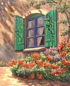 yxf053eB scenery impressionism garden garden Oil Paintings