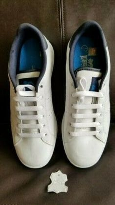d8155e09cf1f52 Lonsdale Leyton Leather Trainers Mens Footwear Shoes Sneakers 7M White  #fashion #clothing #shoes