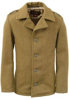 M41 Wool Field Coat by Schott Bros in Olive