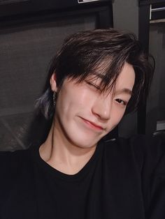 """""""san loves sleeping and late night snacks. his favorite color is purple and favorite ateez song is answer. he wants to try a soft, dreamy concept to show their cuteness. he calls his airpods 'sanpods'. he's most confident in his physical strength. Selca, Sans Cute, Jung Woo Young, Fandom, Korean Boy, Kim Hongjoong, Without Makeup, Boyfriend Material, Boy Groups"""
