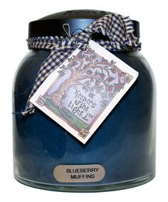 This Blueberry Muffin Black Lid Papa Jar Candle by A Cheerful Giver is perfect! #zulilyfinds