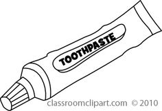 Toothbrush and toothpaste clipart black and white in 2019