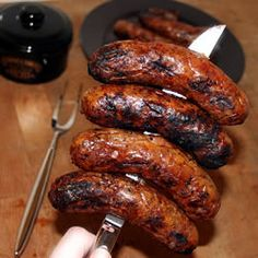 Homemade Kielbasa sausage and veggies;recipes with sausage dinner;spaghetti with sausage;orrechiette with sausage; Homemade Sausage Recipes, Pork Recipes, Cooking Recipes, Sirloin Recipes, Drink Recipes, Charcuterie, Home Made Sausage, Kielbasa Sausage, Eckrich Sausage