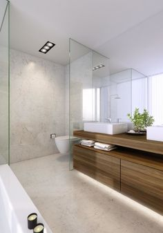 bathroom: Marvelous Small Bathroom Using Oak Wood Narrow Vanity Design Feat Big Frameless Mirror Units Also Catchy Marble Bathroom Stalls Wall With Glass Window Dividers - Awesome Bathroom Mirror Ideas to Decorate the Room Instantly, Luxury Busla: Home Decorating Ideas and Interior Design