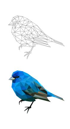 geometric bird by Breno Bitencourt