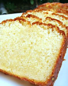 Moist Vanilla Pound Cake - butter - milk - sugar - 3 eggs - vanilla extract - flour - baking powder - salt