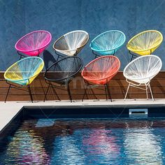 Acapulco Lounge Chair Replica - Blue & Yellow - Buy Acapulco Furniture and Get Best Acapulco Chairs Price - Milan Direct
