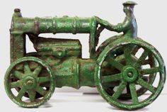 "antique Ford Fordson cast iron toy tractor 5-3/4"" long"