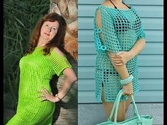 Crochet Summer Dresses, Crochet Summer Tops, Crochet Tops, V Stitch Crochet, Easy Crochet, Top Pattern, Free Pattern, Tunic Blouse, Tunic Tops
