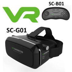 SHINECON VR Headset V1.0 SC-G01 & Bluetooth SC-B01 Vr Shinecon, 3d Glasses, Vr Headset, Virtual Reality, Bluetooth