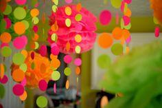 Polka Dot Birthday Supplies, Decor, Clothing: Pink, Lime, and Orange Polka Dot Birthday!