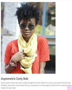 Asymmetric Curly Bob