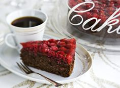 Chocolate and rasberry cake - Suklaa-vadelmakakku