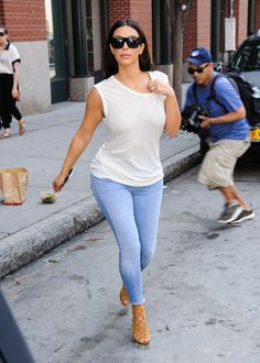 Celebrities Wearing Jeans and a White T-Shirt | POPSUGAR Fashion waysify