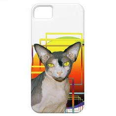 iPhone 5 Case | Sphynx Cat Ninja white