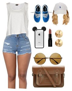 """4.26.16"" by lovely-98 ❤ liked on Polyvore featuring ONLY, New Balance, The Cambridge Satchel Company, Smashbox and Eddie Borgo"