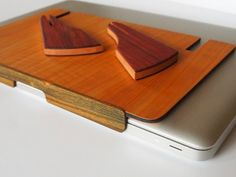 Laptop Stand Ergonomic and Portable by Perfect45Degree on Etsy